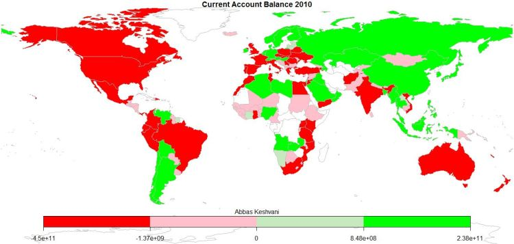 World: Current Account Balance, 2010