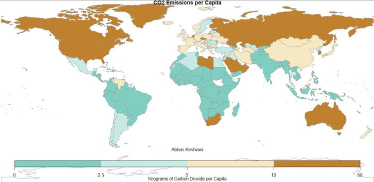 CO2 Emissions per Dollar of GDP