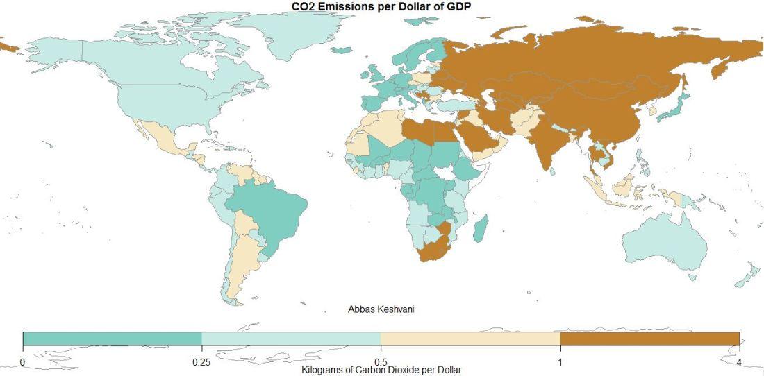CO2 Emissions per Dollar