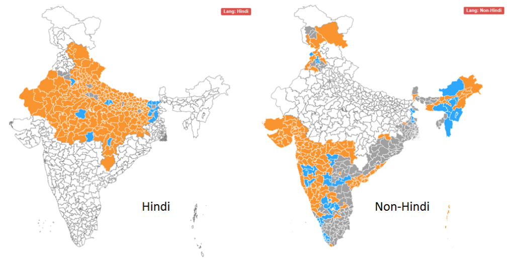 You are more likely to vote BJP if you speak Hindi